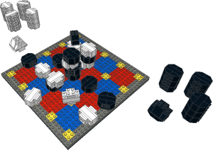 Lego 5x5 Hybrid Tak Game Board & Pieces